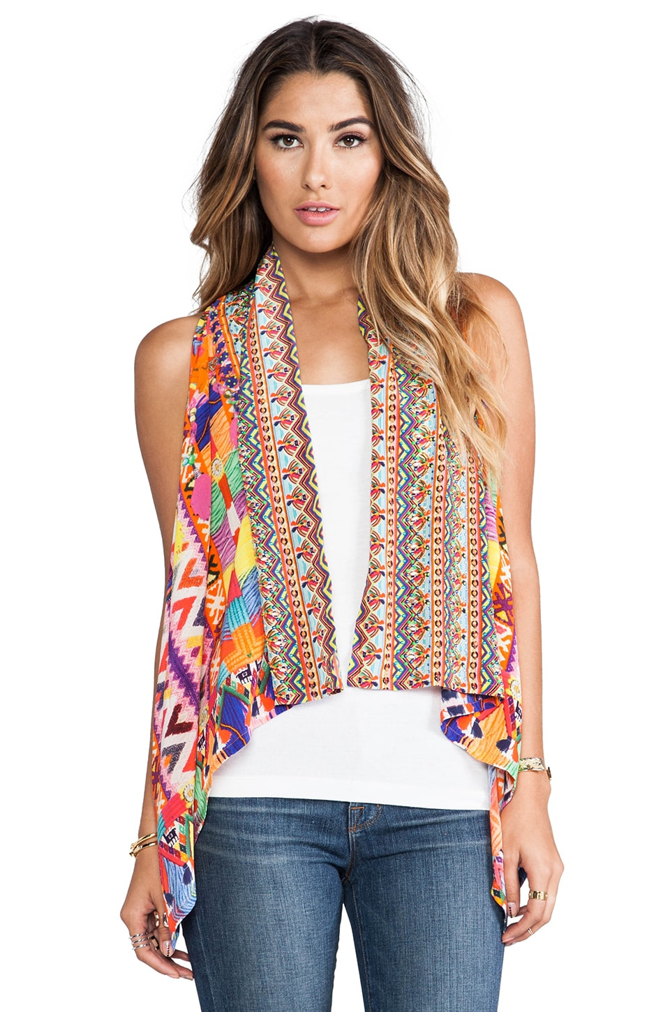 Camilla Worry Dolly Waistcoat Vest in Multi