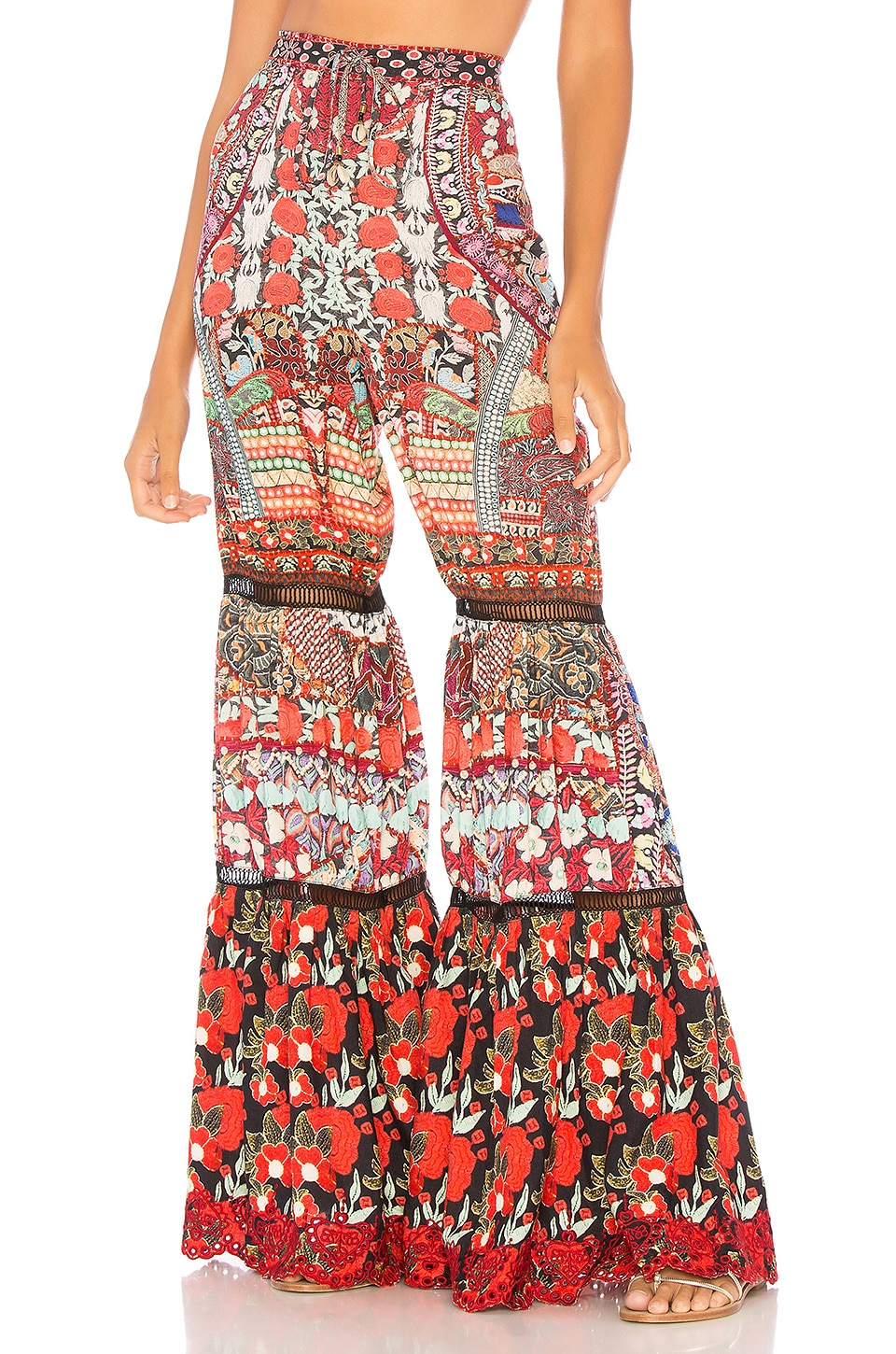 Wide Leg Tiered Pant