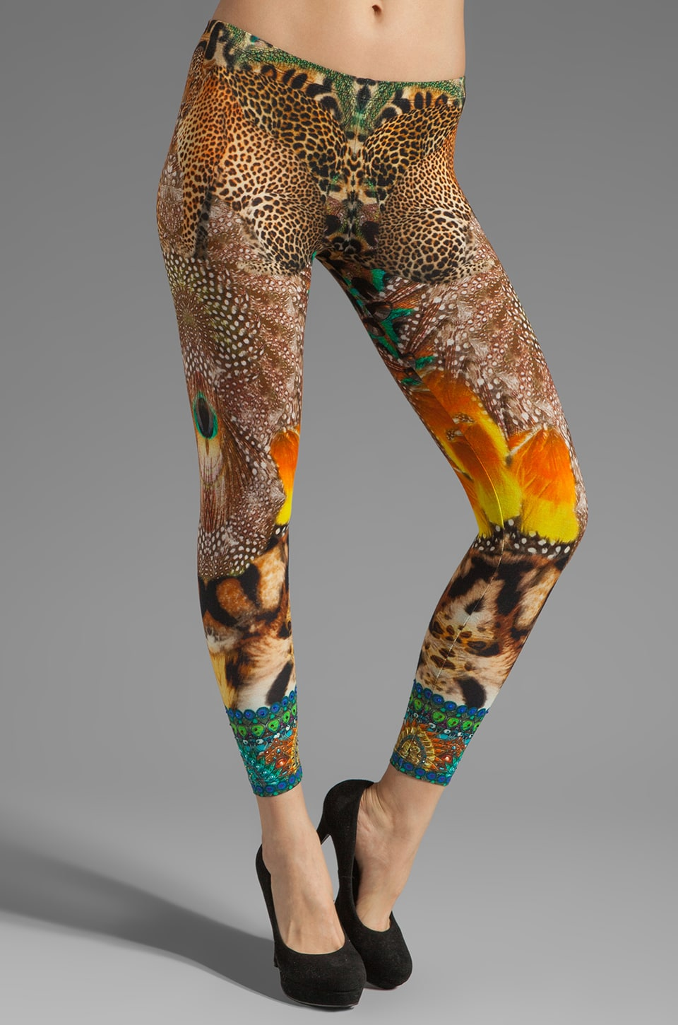 Camilla Los Pozas Legging in Surrealist Xanado