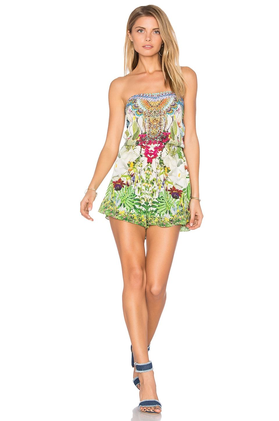 Camilla Drop Shoulder Romper in Exotic Hypnotic