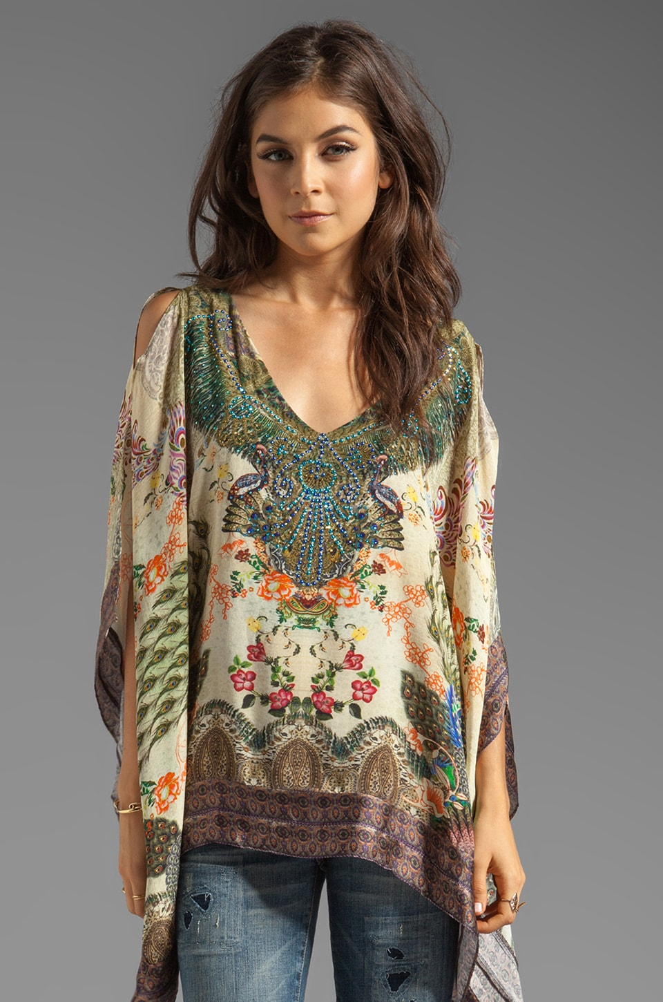 Camilla Poetic License V Neck Top in A Daydream