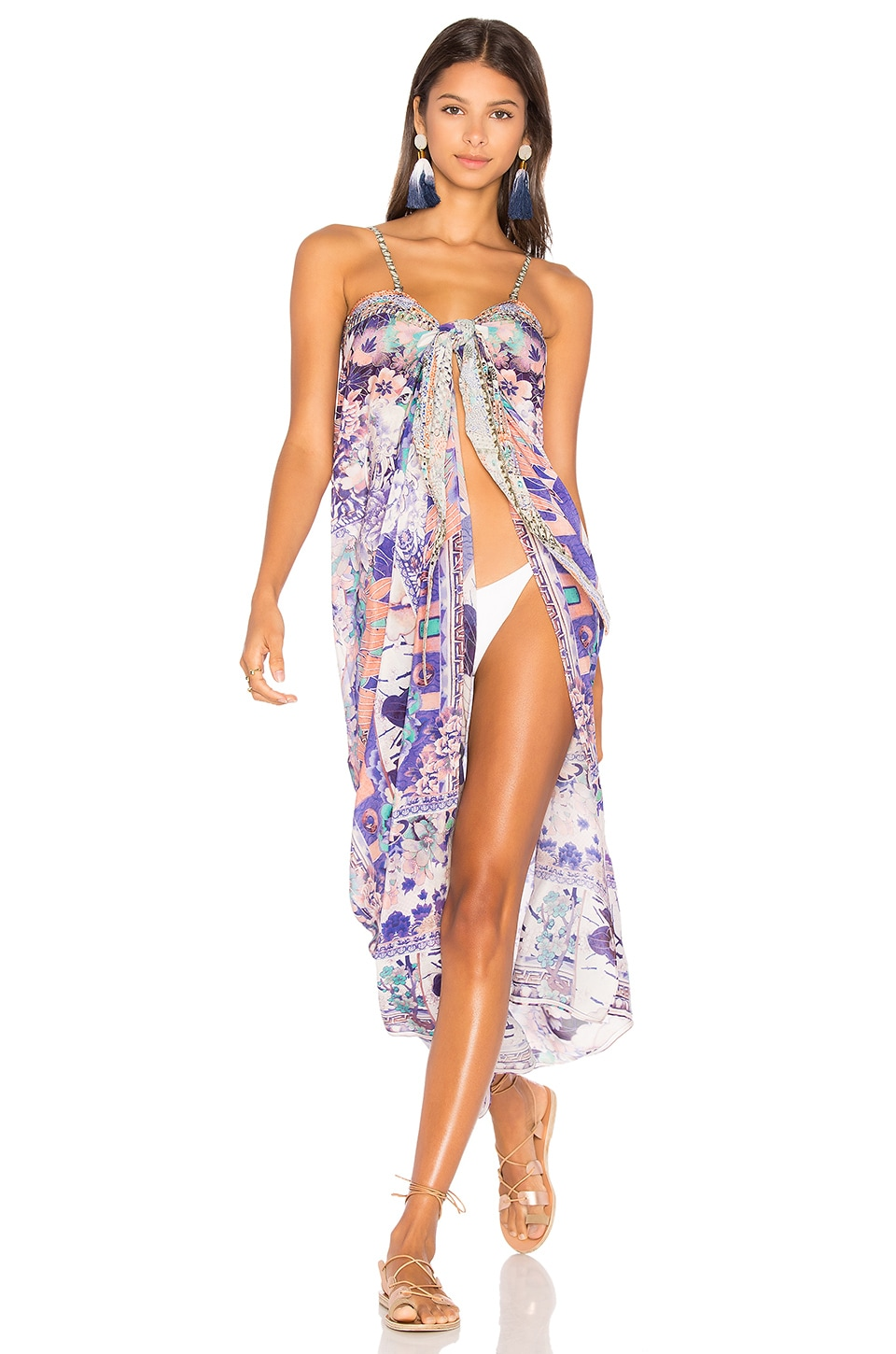 Tie Front Cover Up Dress by Camilla Swimwear