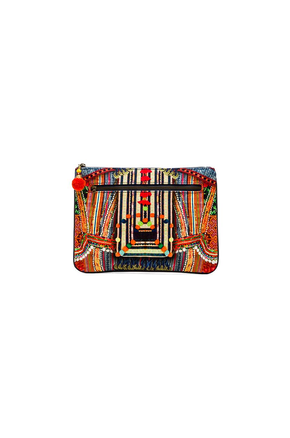 Camilla Small Canvas Clutch in Trek of the Nung