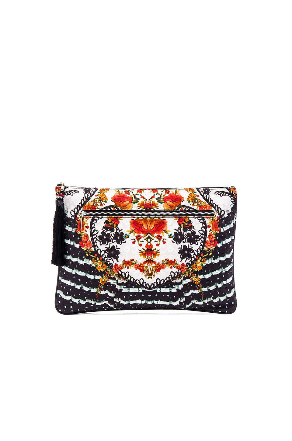 Camilla Large Canvas Clutch in La Rosa