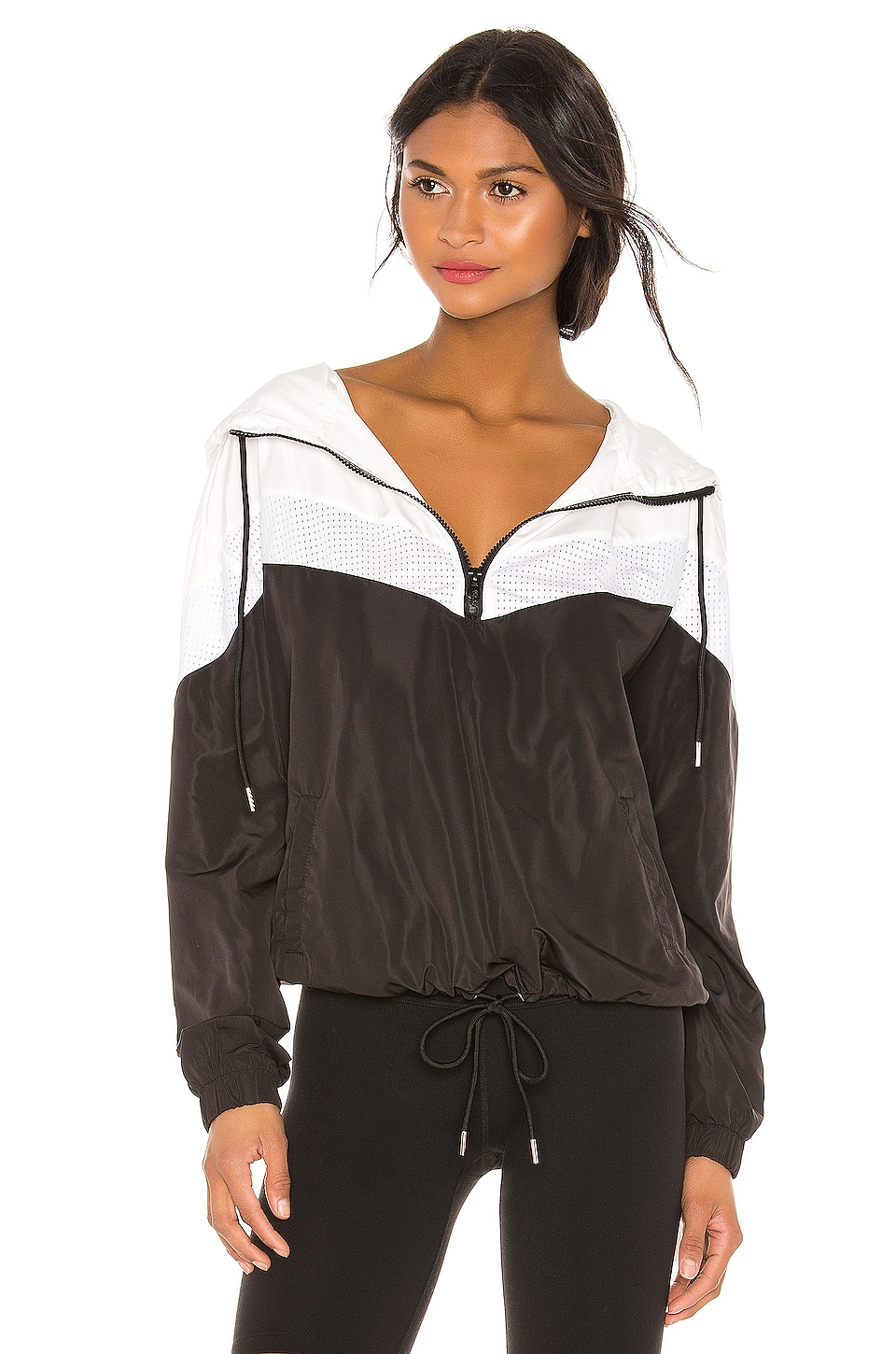 Chill by Will Val Windbreaker in Black & White Mesh