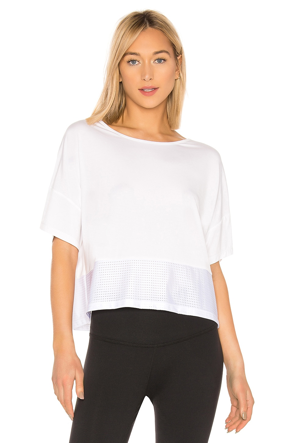 Chill by Will Donna Top in White & Mesh