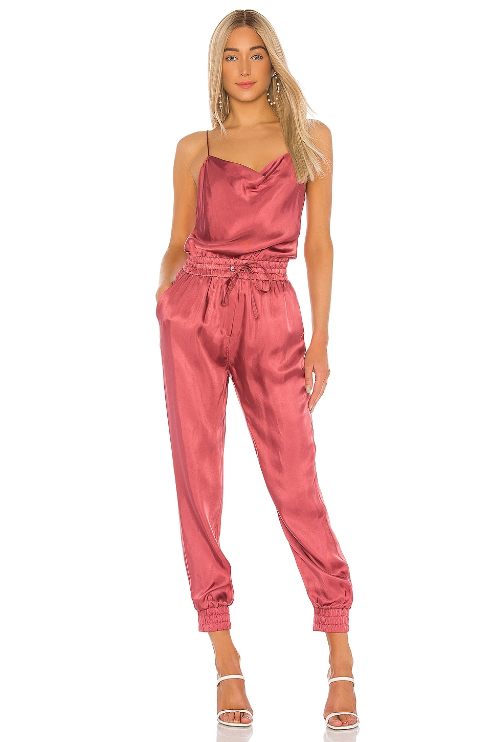 Cinq a Sept Finnley Jumpsuit in Pink Copper