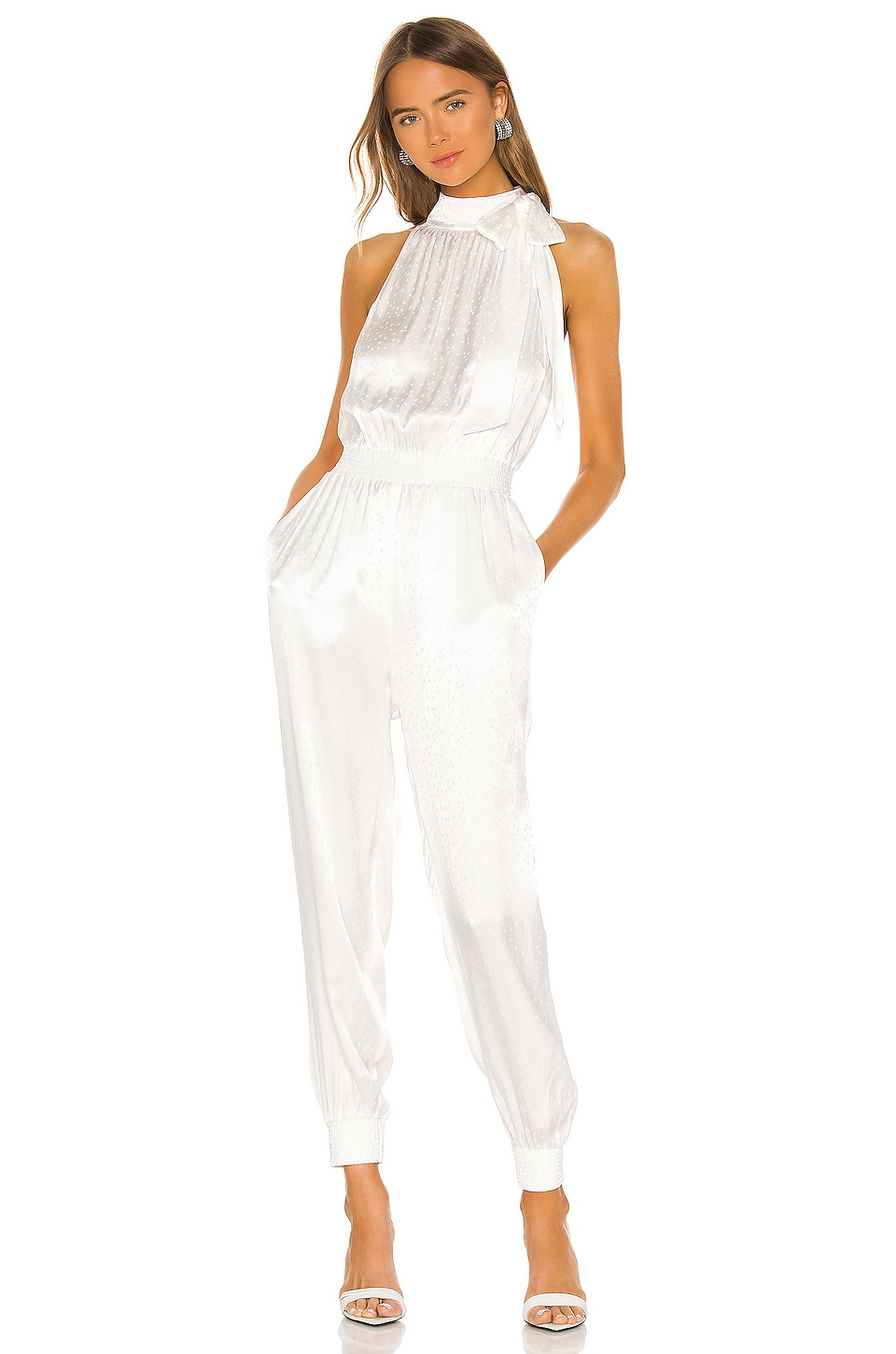 Cinq a Sept Romina Jumpsuit in Ivory