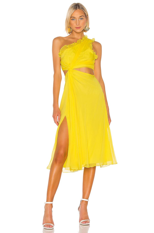 Cinq a Sept Corinne Dress in Blazing Yellow