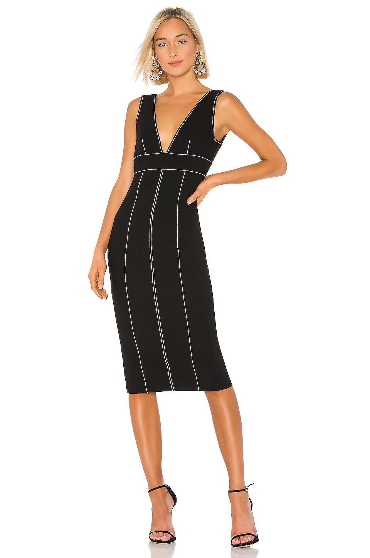 Cinq a Sept Taya Dress in Black & Ivory