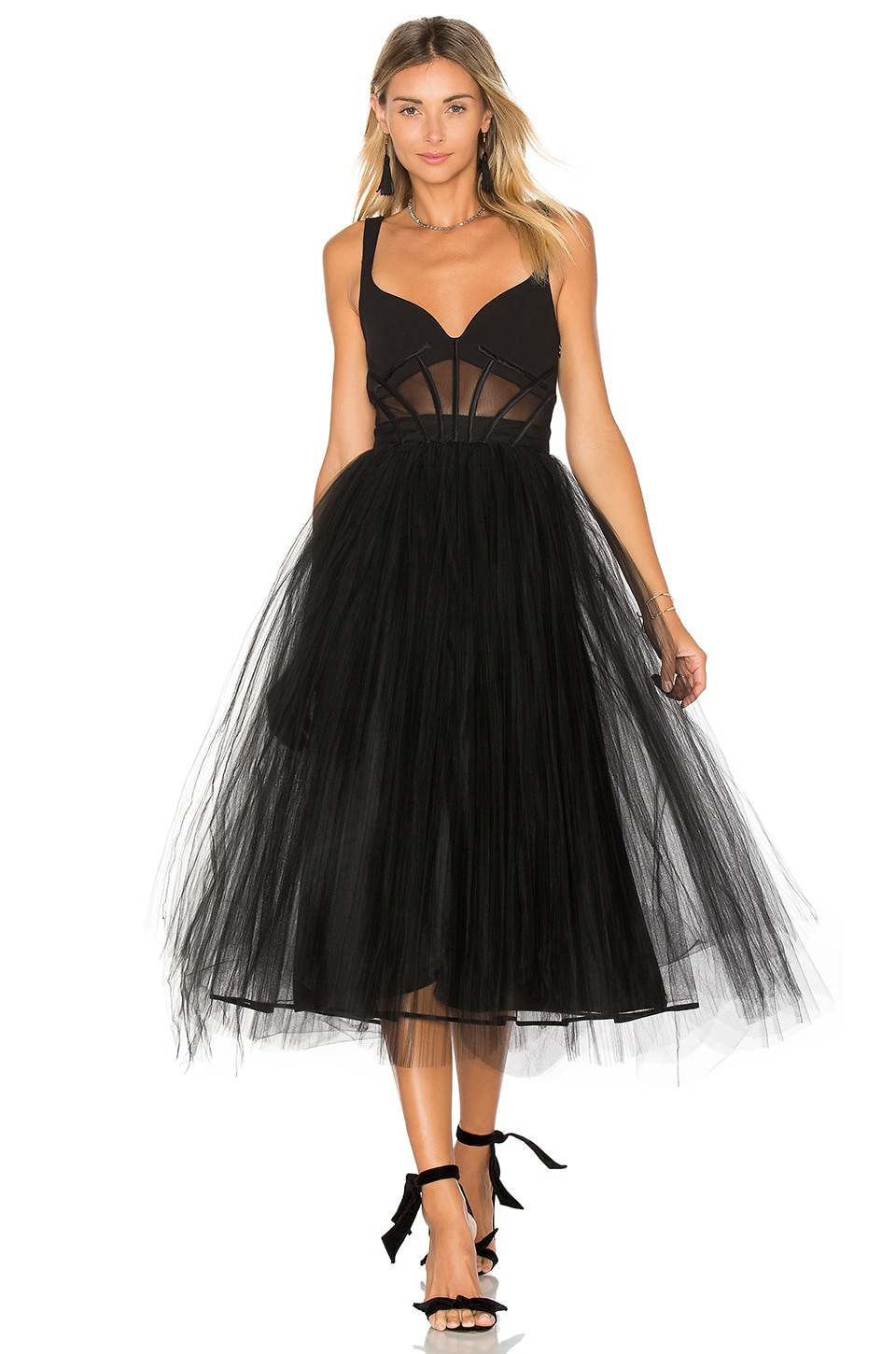 Cinq a Sept Evangeline Gown in Black