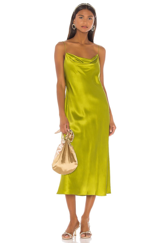 Cinq a Sept Solid Marta Dress in Peridot