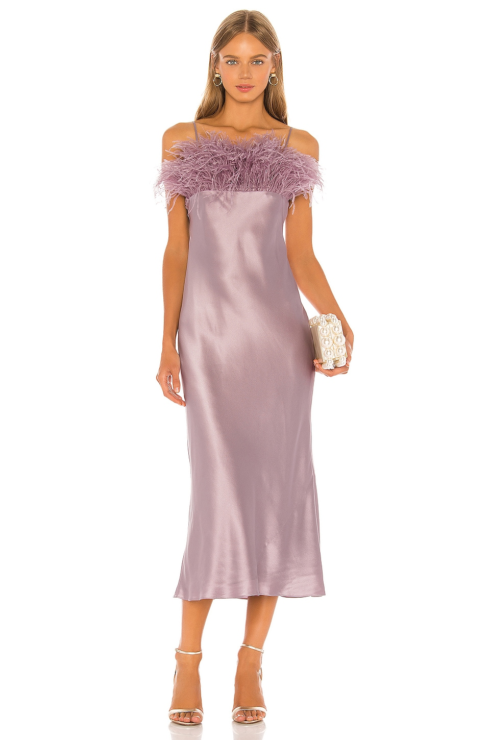 Cinq a Sept Cerise Dress in Sea Fog