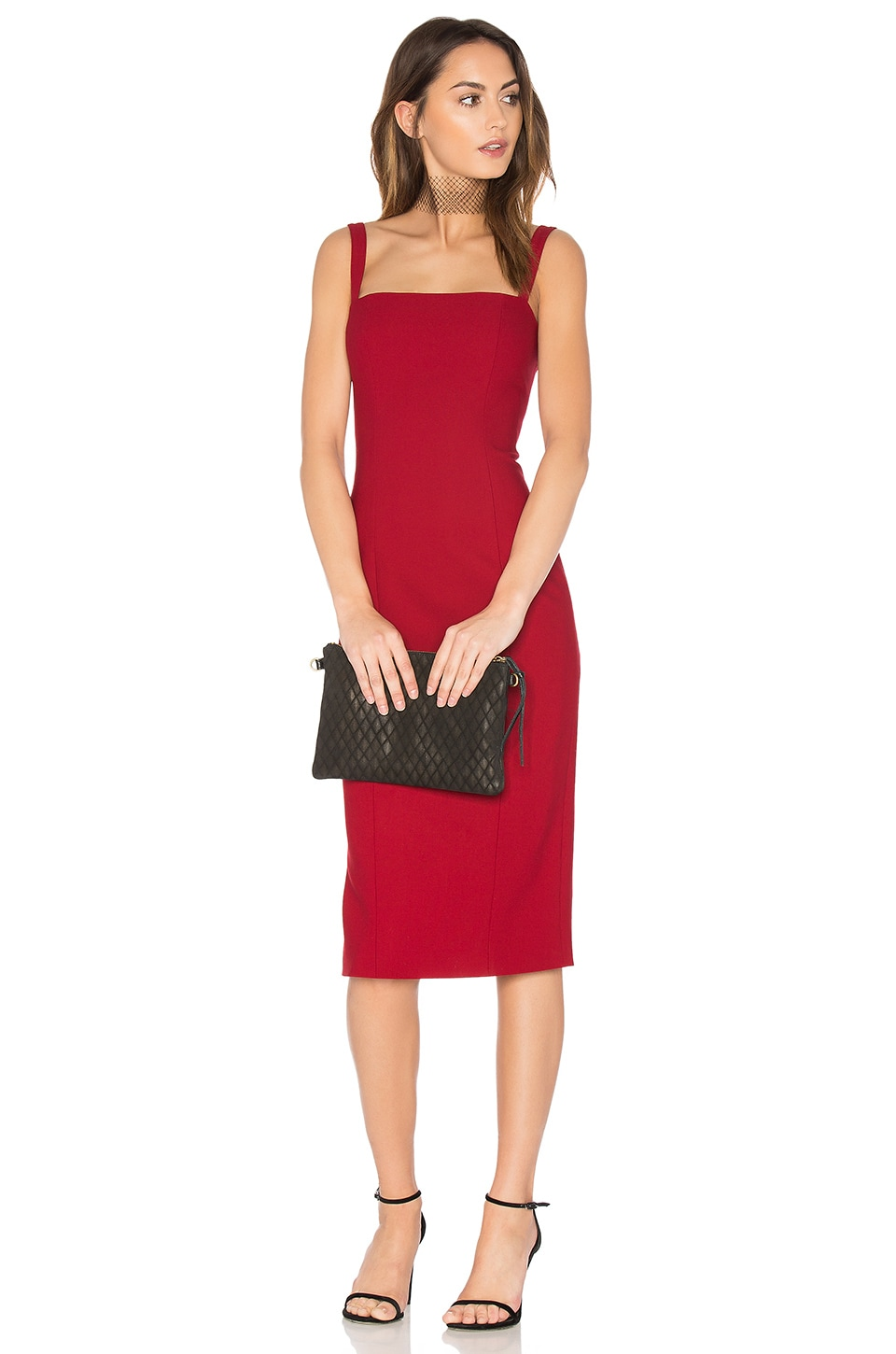 Cinq a Sept Ela Dress in Crimson