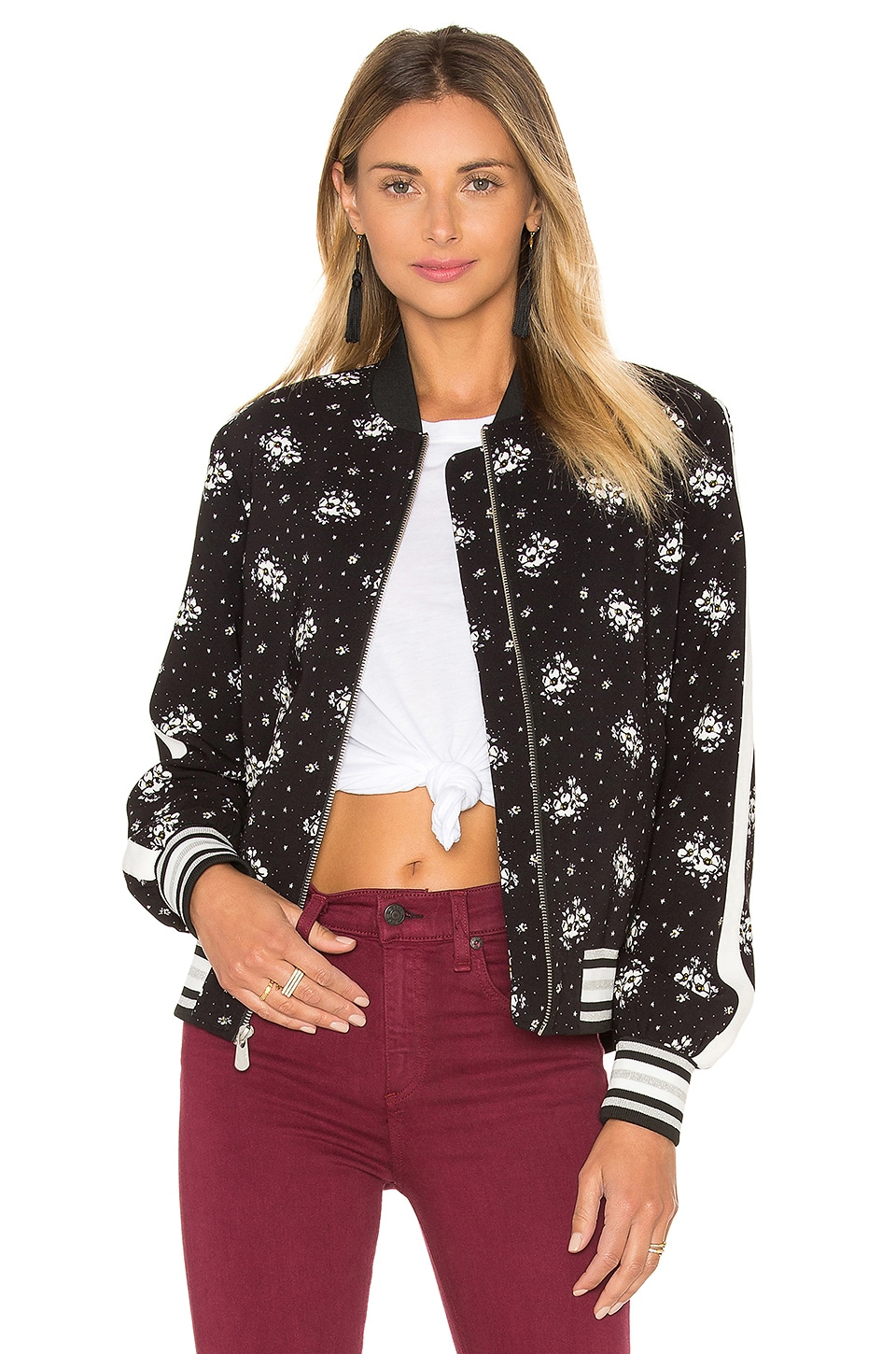 Stardust Floral Bomber Jacket by Cinq a Sept