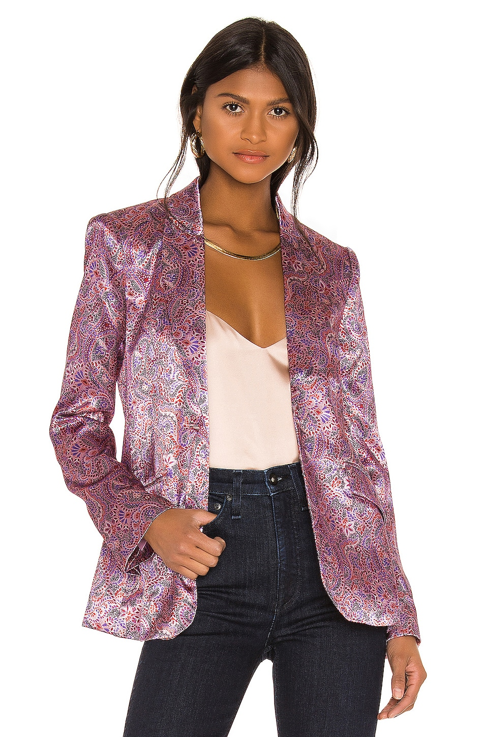 Cinq a Sept Estelle Jacket in Tea Rose Multi