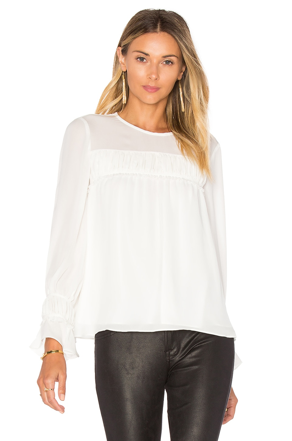 Cinq a Sept Monarch Top in Ivory