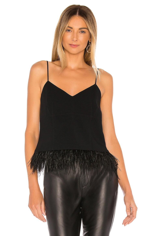Cinq a Sept Narcissa Drapey Crepe Top in Black