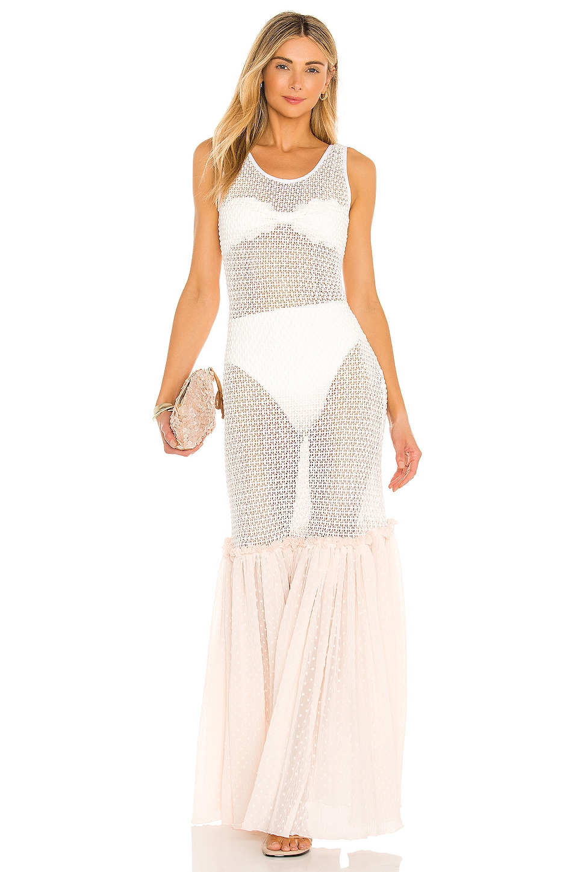 CHIO Tube Knit Dress in Cream