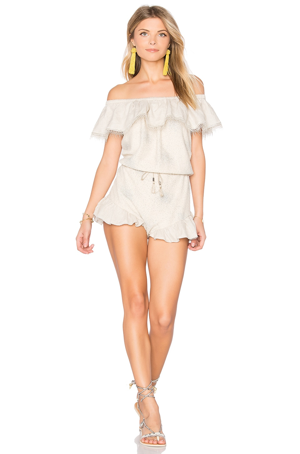 Off the Shoulder Romper by CHIO