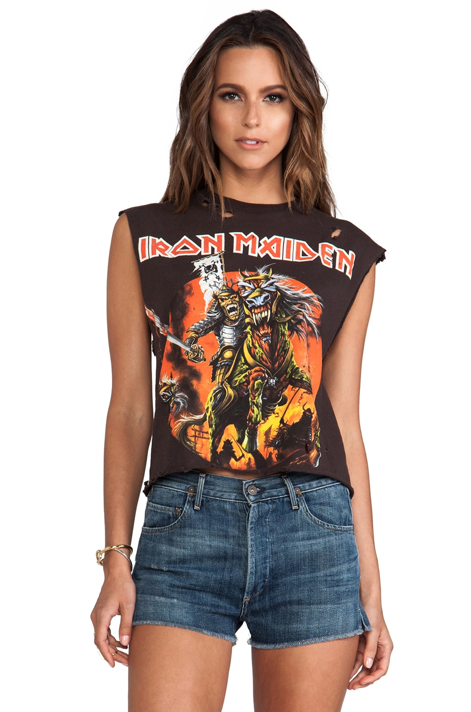 Christian Benner Iron Maiden Killers Cropped Tee in Black