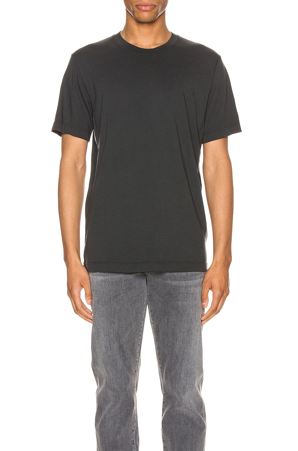 Citizens of Humanity Everyday Classic Short Sleeve Tee in Charcoal