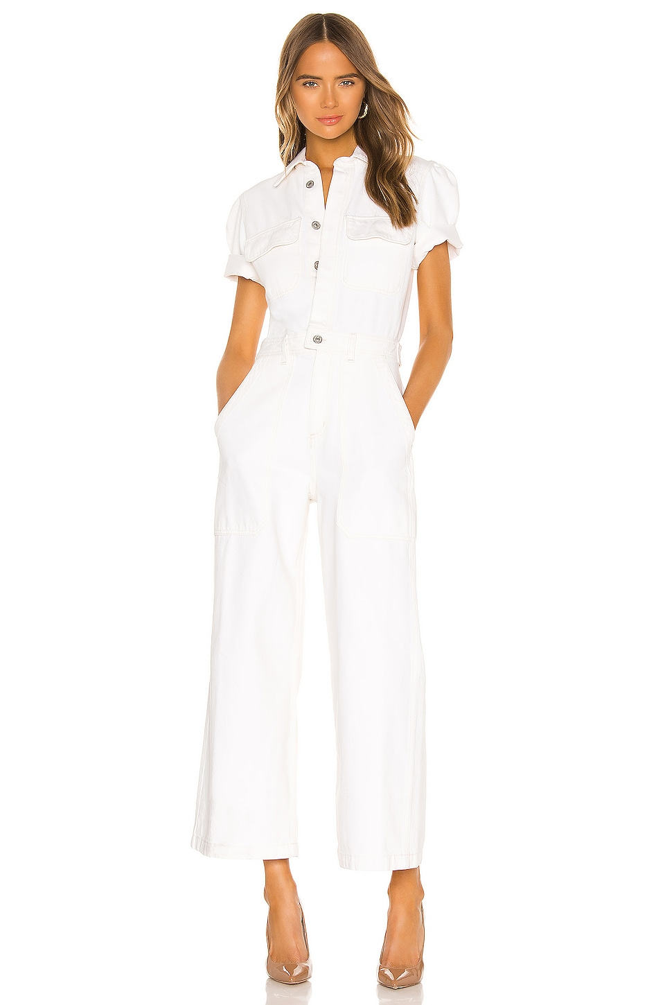 Citizens of Humanity Miki Jumpsuit in White Willow