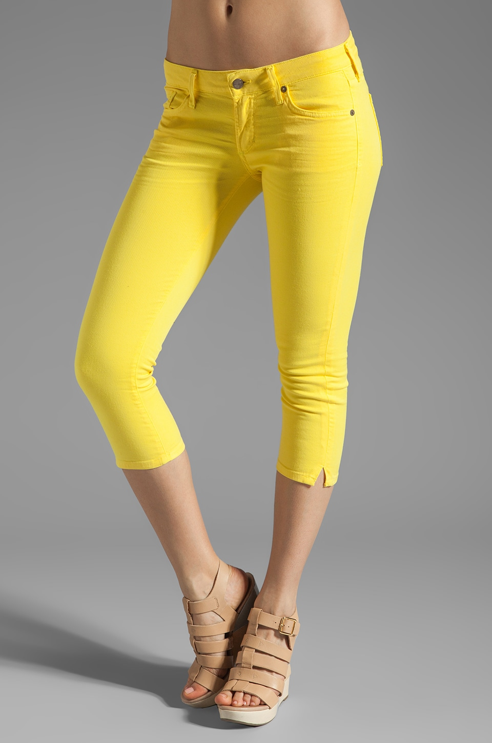 Citizens of Humanity Racer Crop in Citron