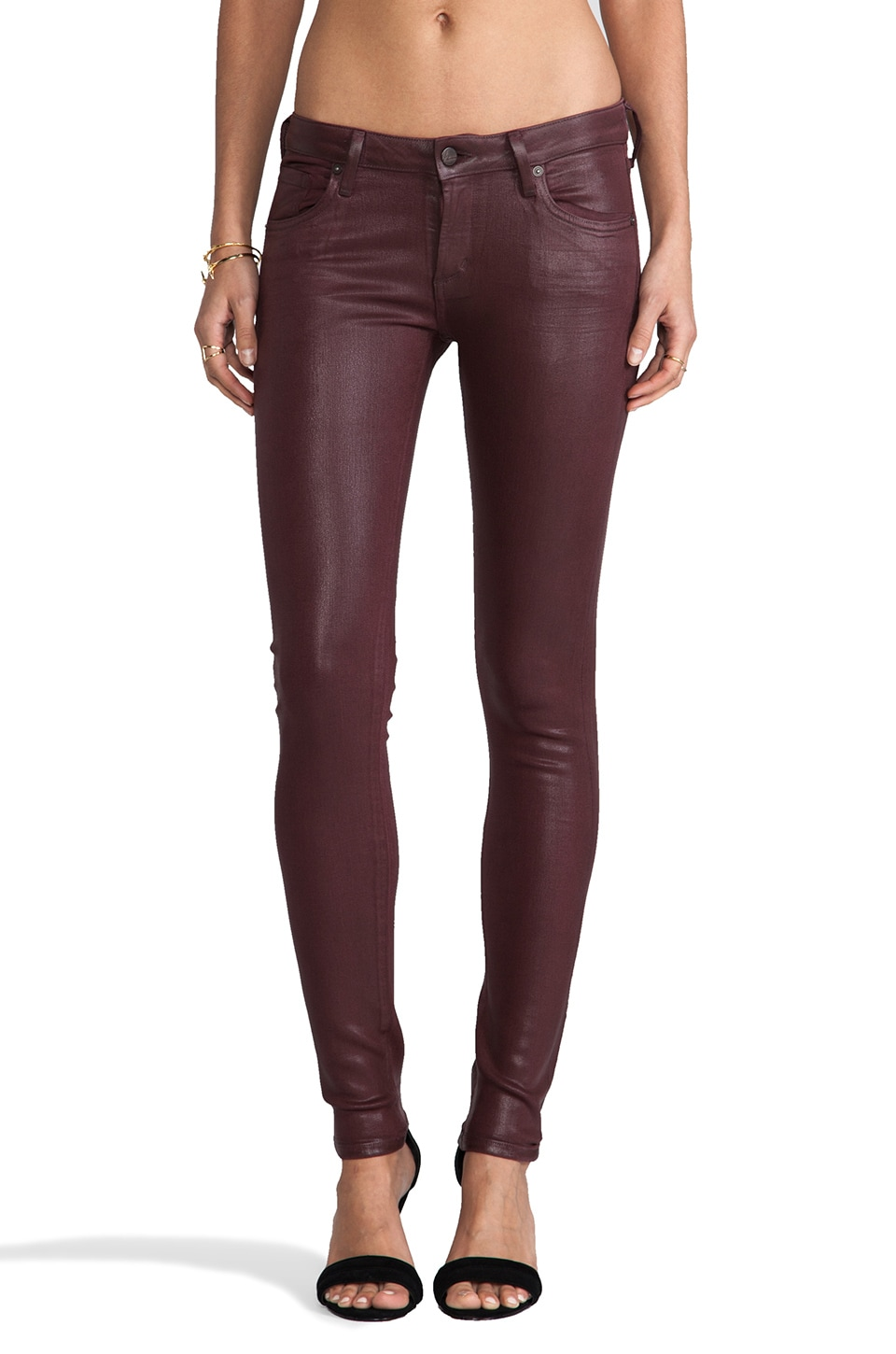 Citizens of Humanity Racer Coated Skinny in Rubia