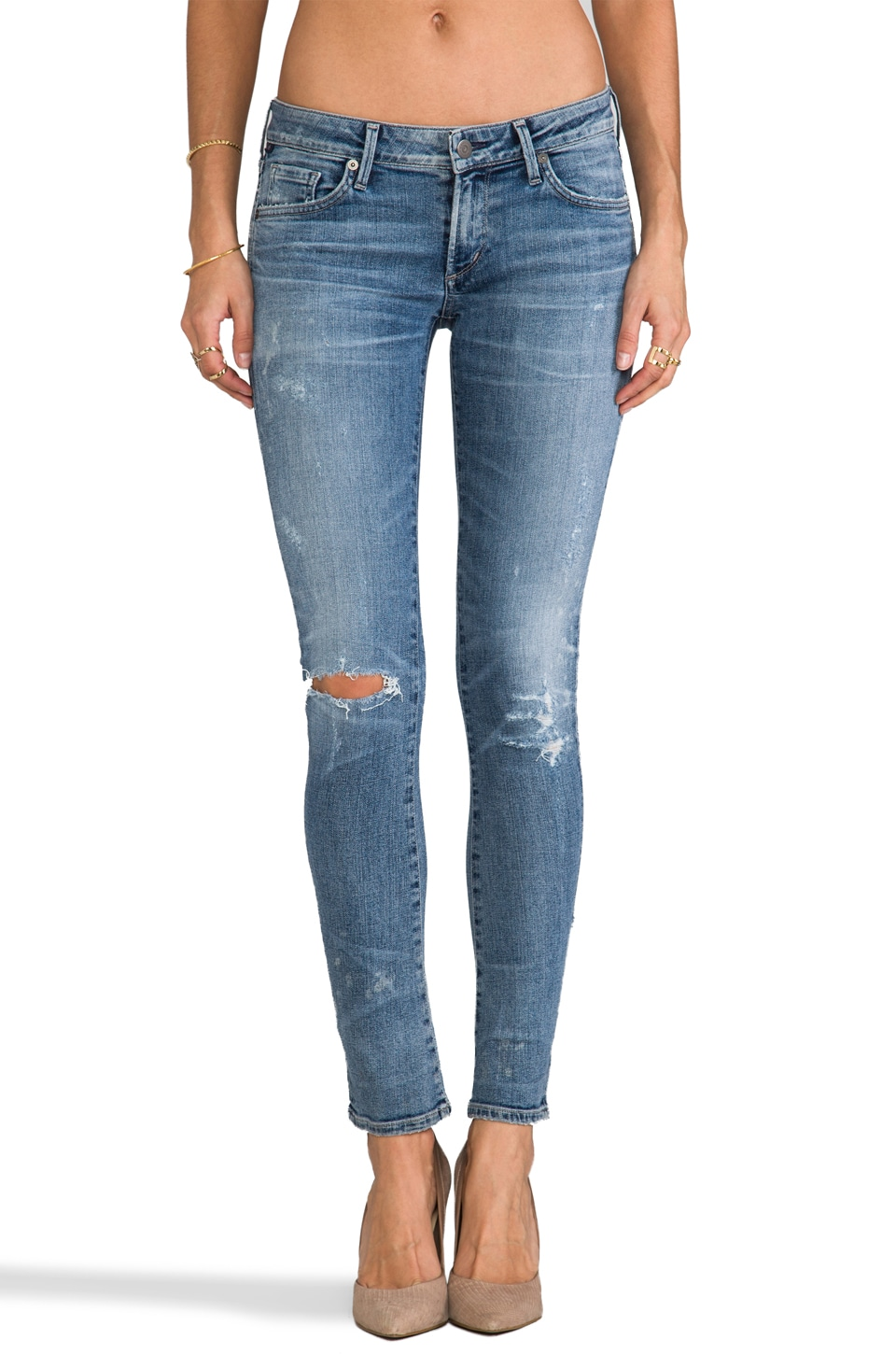 Citizens of Humanity Premium Vintage Racer Low Rise Skinny in Crosby