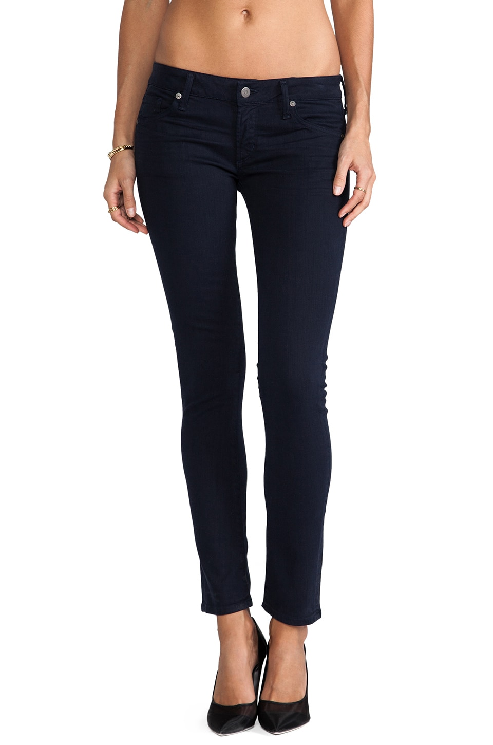 Citizens of Humanity Racer Lowrise Skinny in Dark Navy