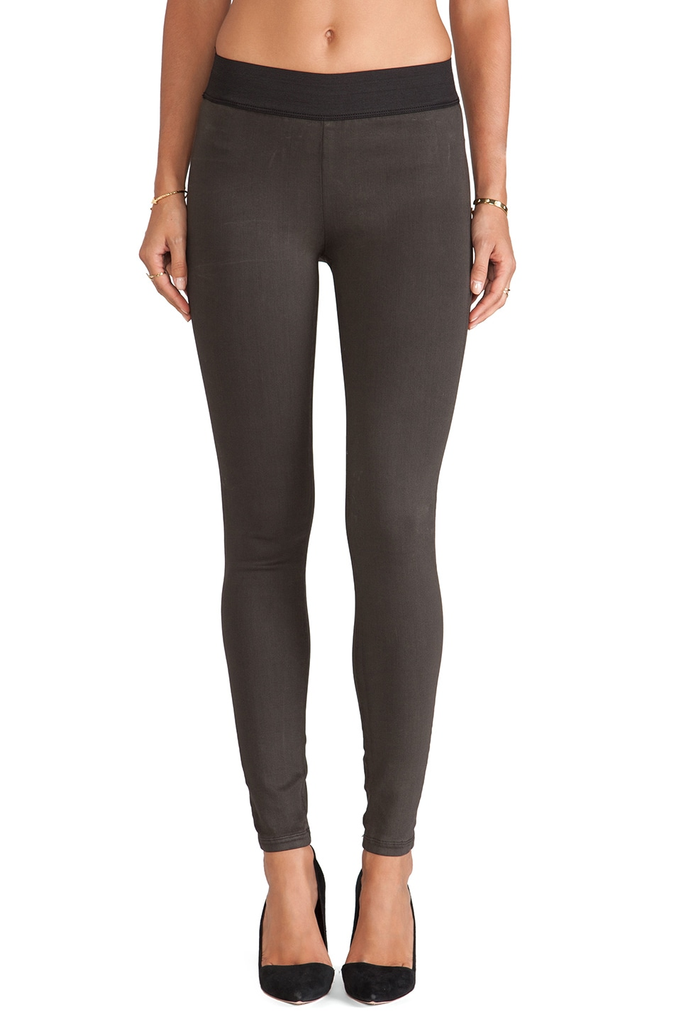 Citizens of Humanity Greyson Legging in Brown Suedette