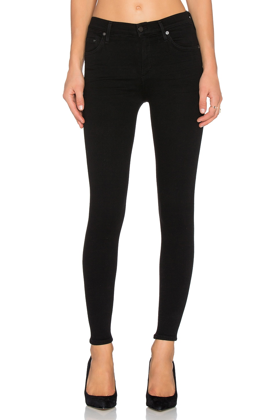 Citizens of Humanity SCULPT Rocket Petite in All Black