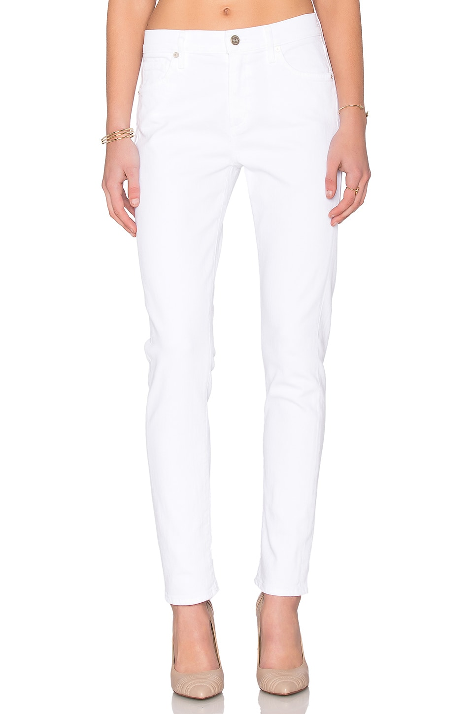 Agnes Mid Rise Slim Straight at Revolve Clothing