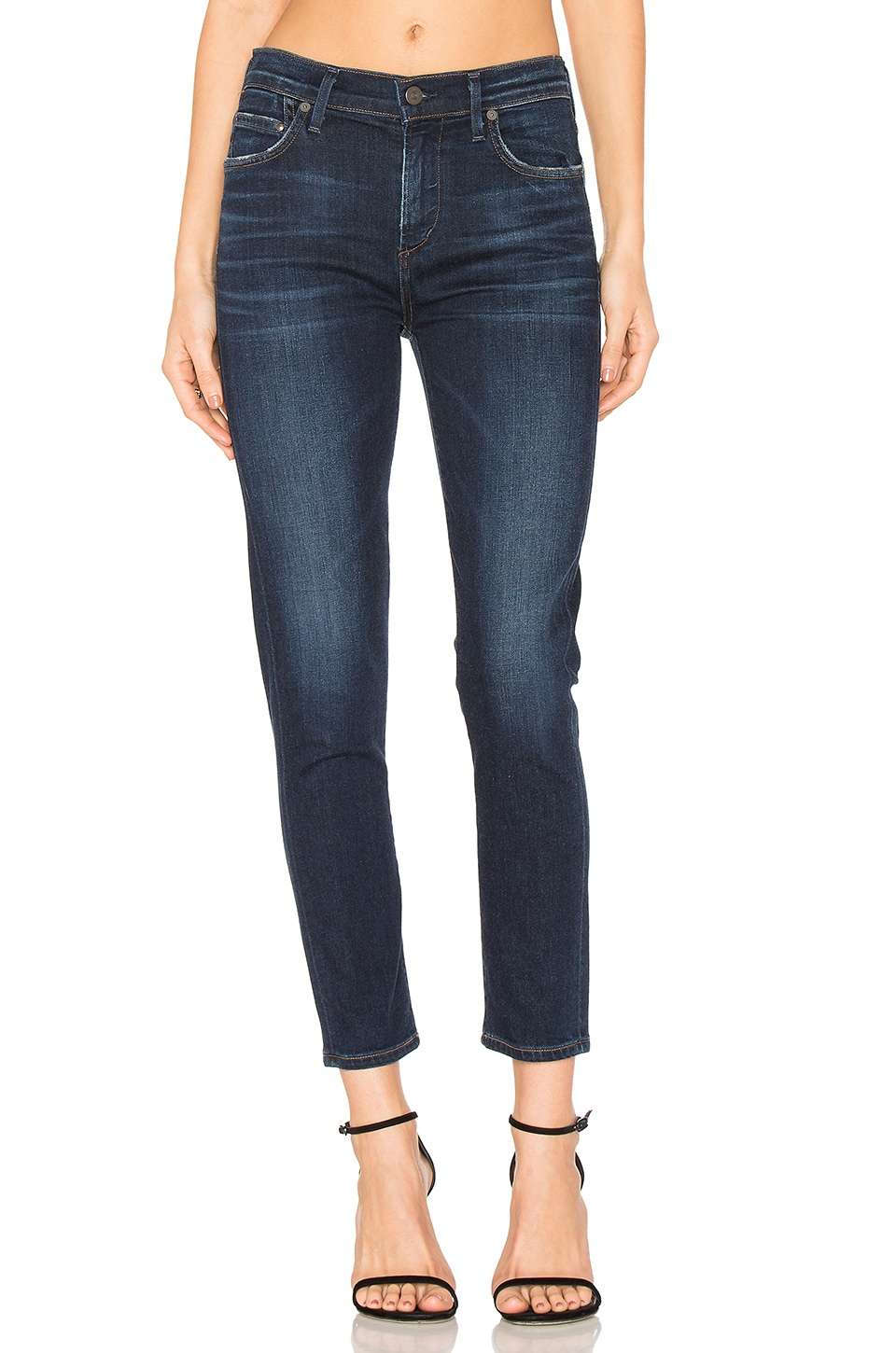 Citizens of Humanity Rocket High Rise Crop Skinny in Starlite