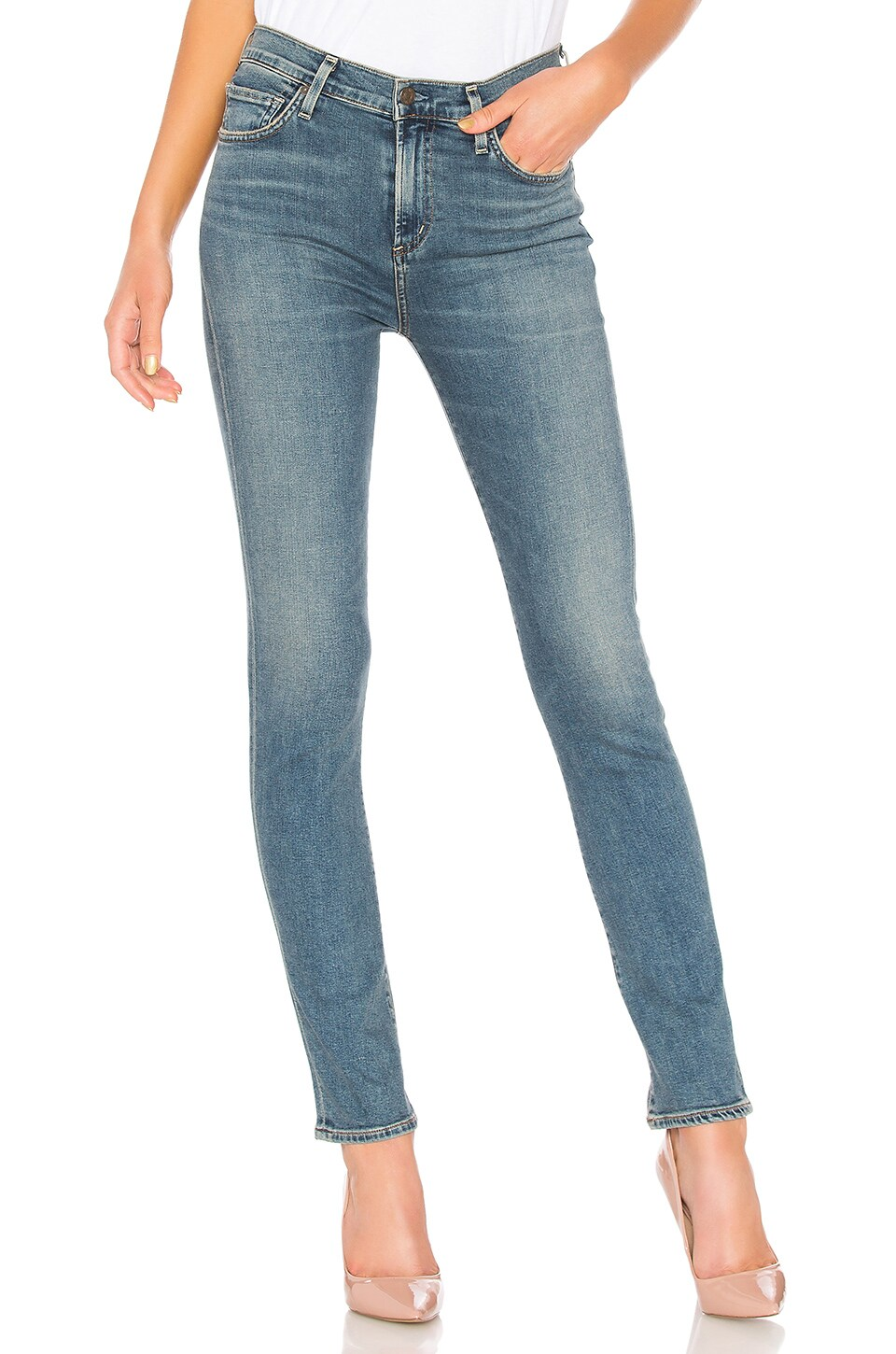 Harlow High-Rise Slim Jeans, Witness