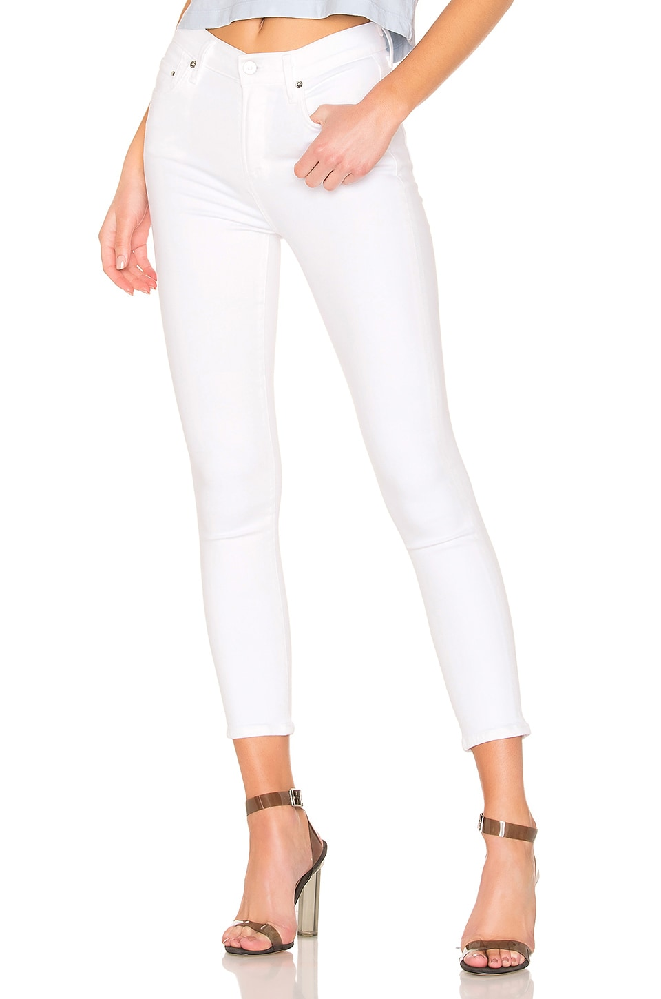 Citizens of Humanity Rocket Crop High Rise Skinny in White Sculpt