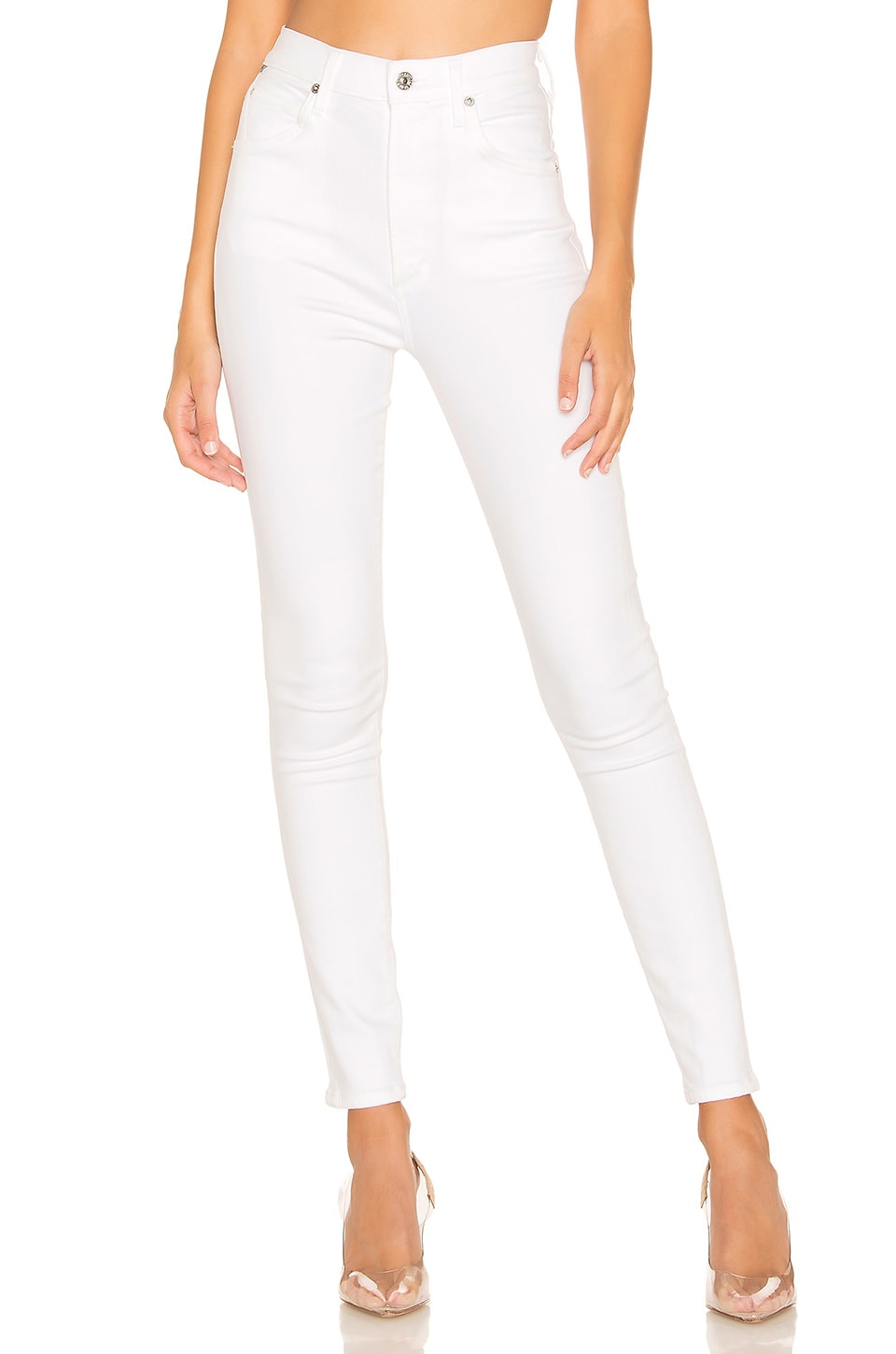 Citizens of Humanity Chrissy High Rise Skinny in White Sculpt