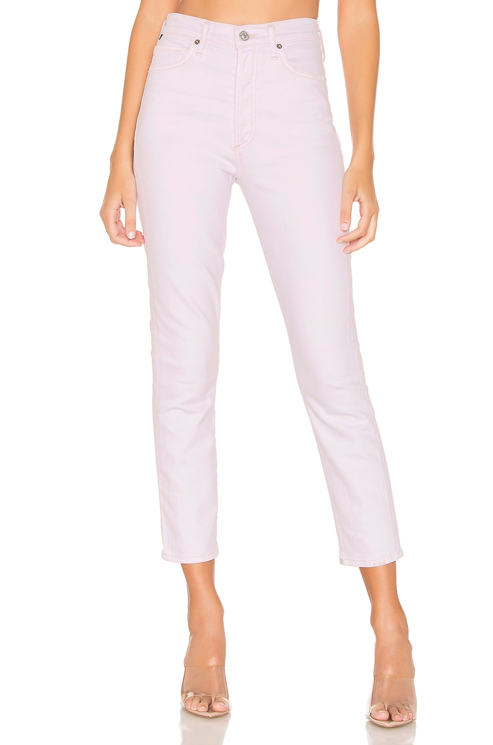 Citizens of Humanity Olivia Crop High Rise Slim Ankle in Wisteria