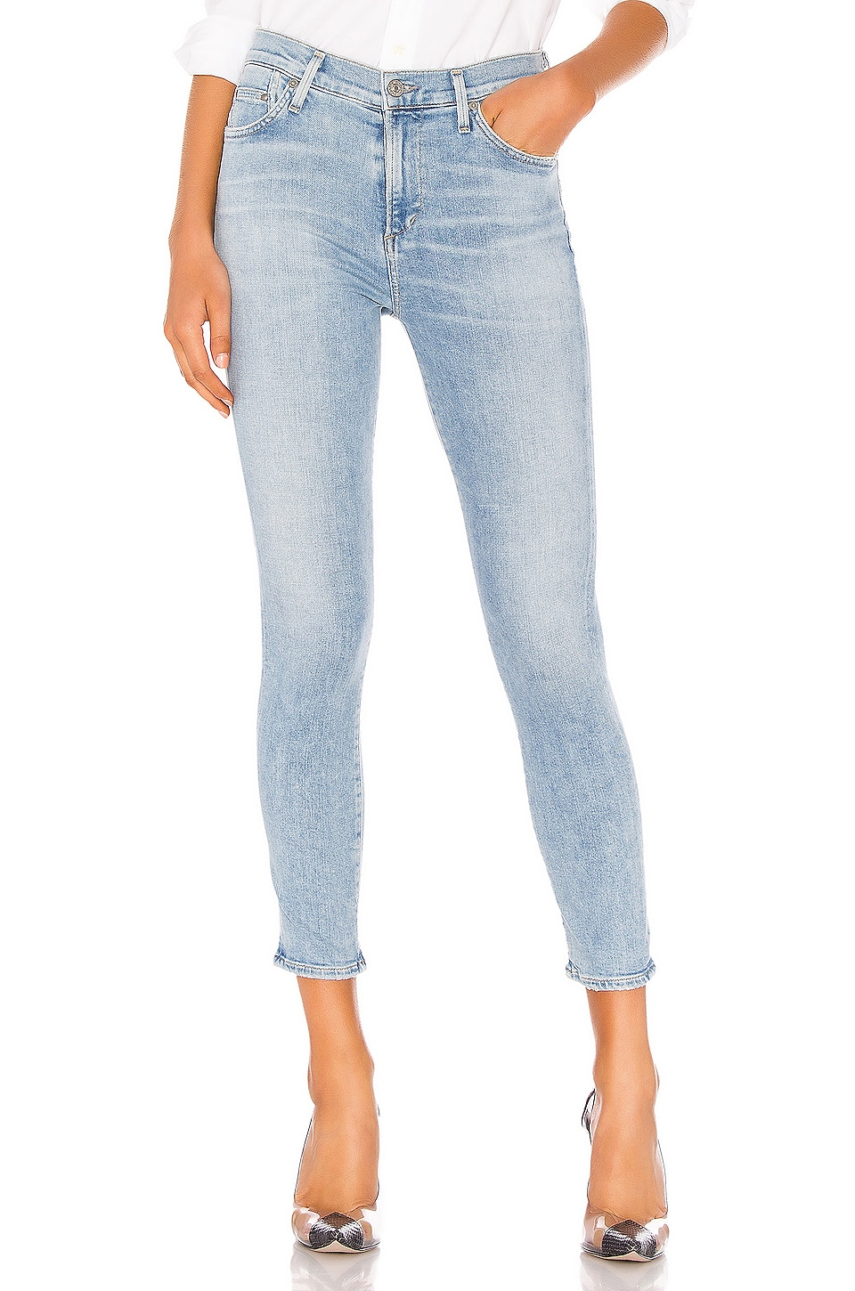 Citizens of Humanity Rocket Crop Sculpt Mid Rise Skinny in Soft Fade