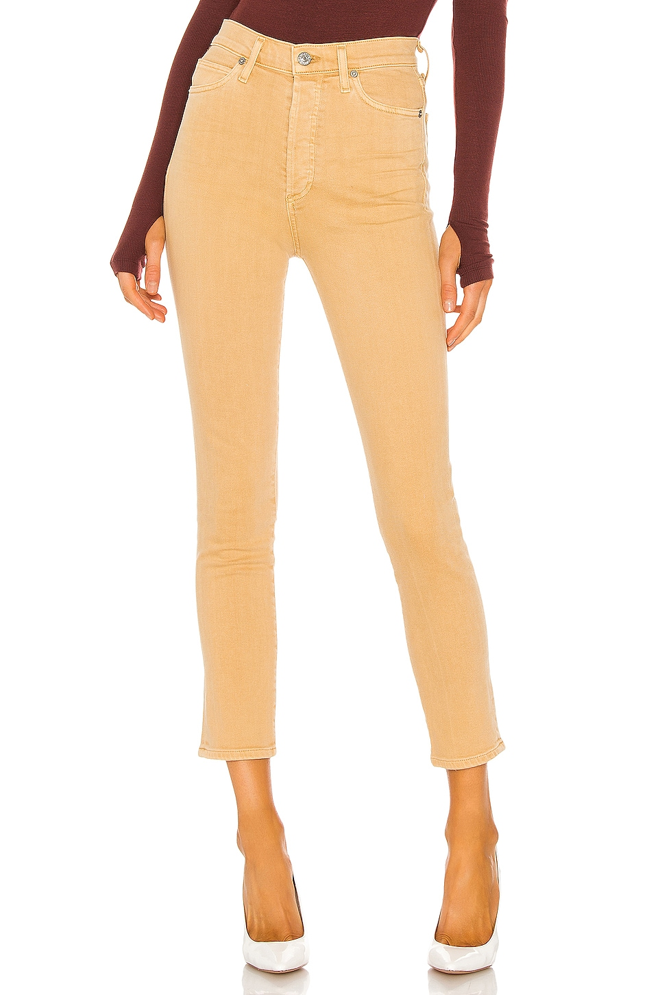 Citizens of Humanity Olivia High Rise Slim in Golden Rod