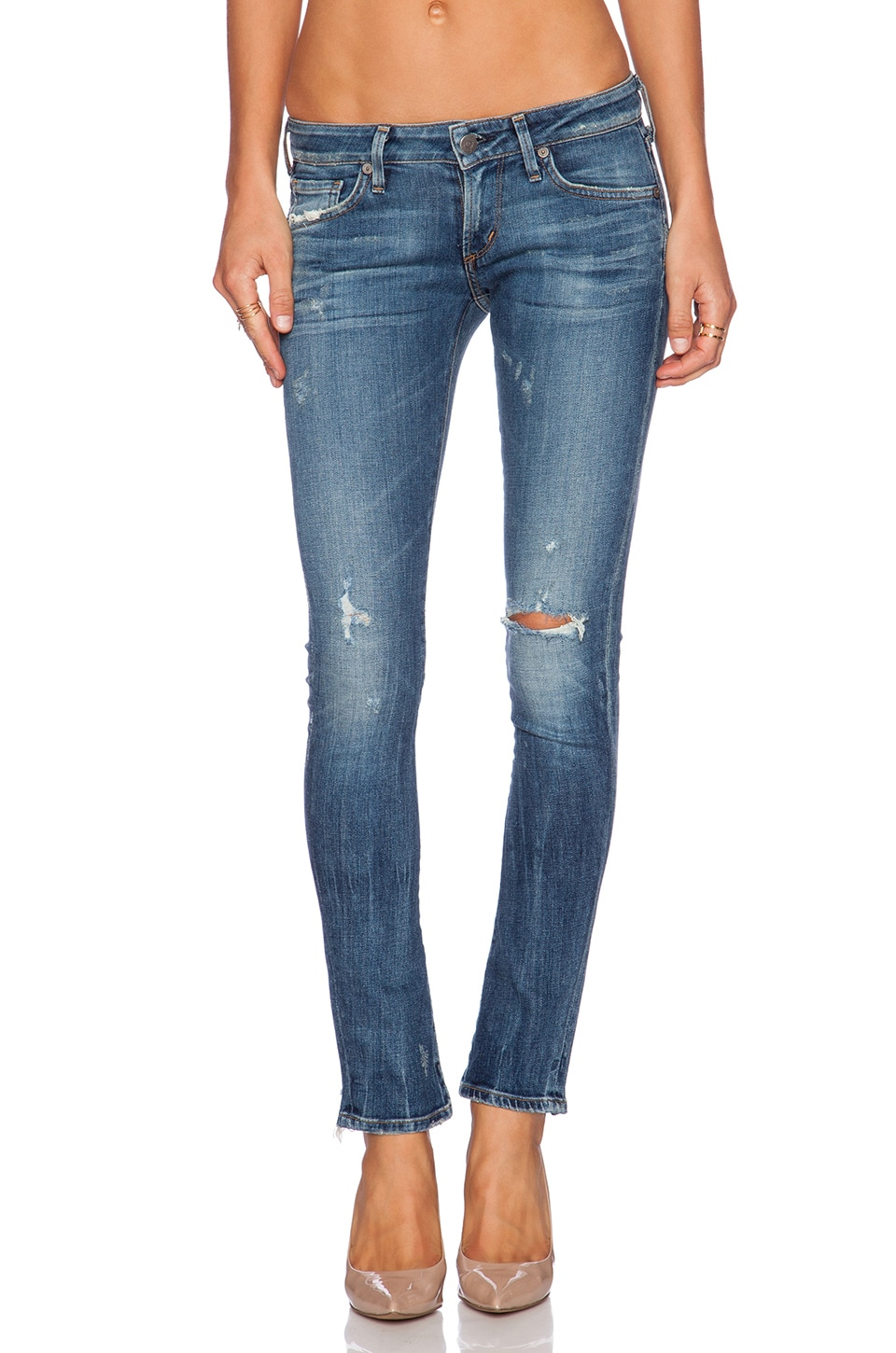 Citizens of Humanity Racer Low Rise Ultra Skinny in Slash