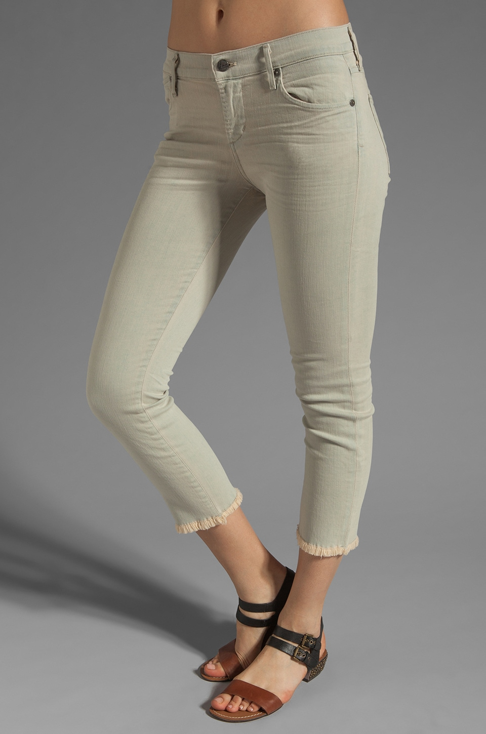 Citizens of Humanity Avedon Skinny Cut Off in Tan Imperial