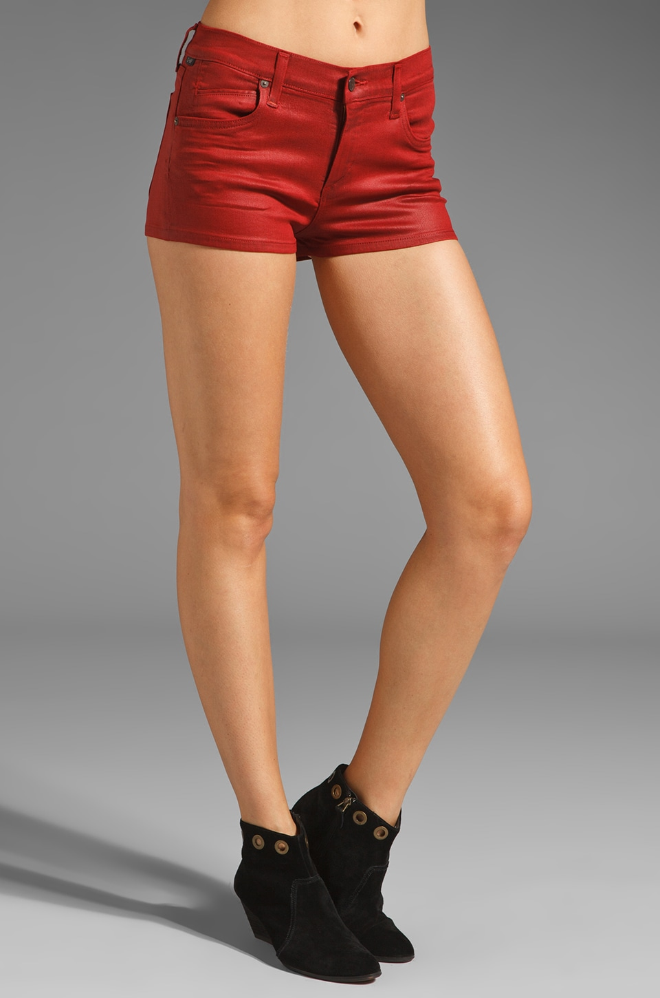 Citizens of Humanity Jeans Mandy Highrise Short in Vamp Red
