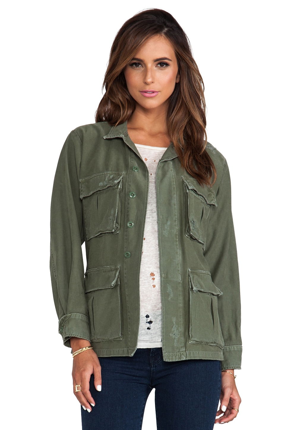 Citizens of Humanity Kylie Military Jacket in Fatigue