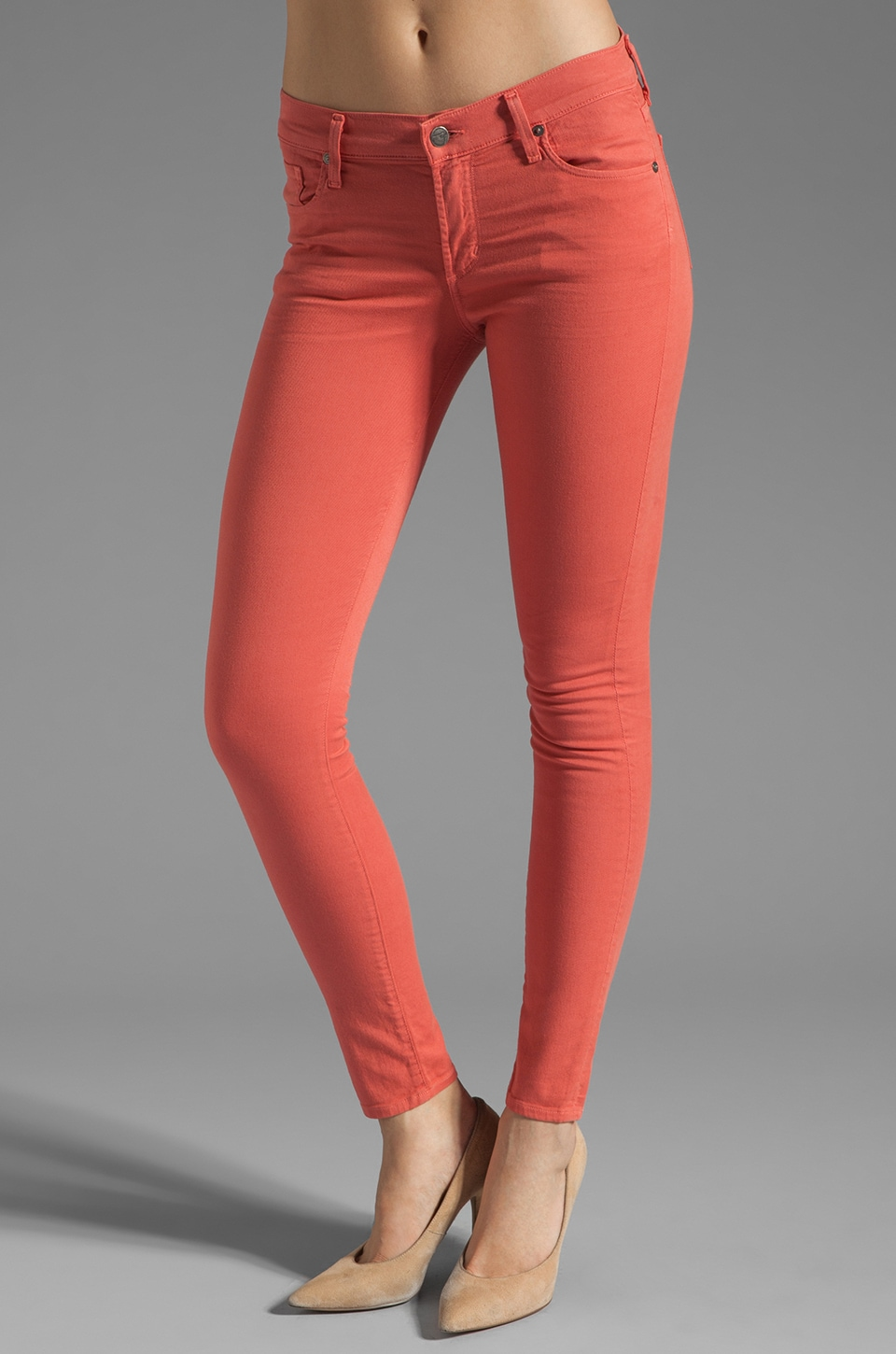 Citizens of Humanity Thompson Twill Ankle Skinny in Watermelon
