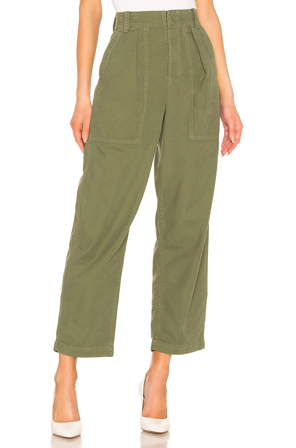 Citizens of Humanity Cassidy Pleat Pocket Pant in Laurel