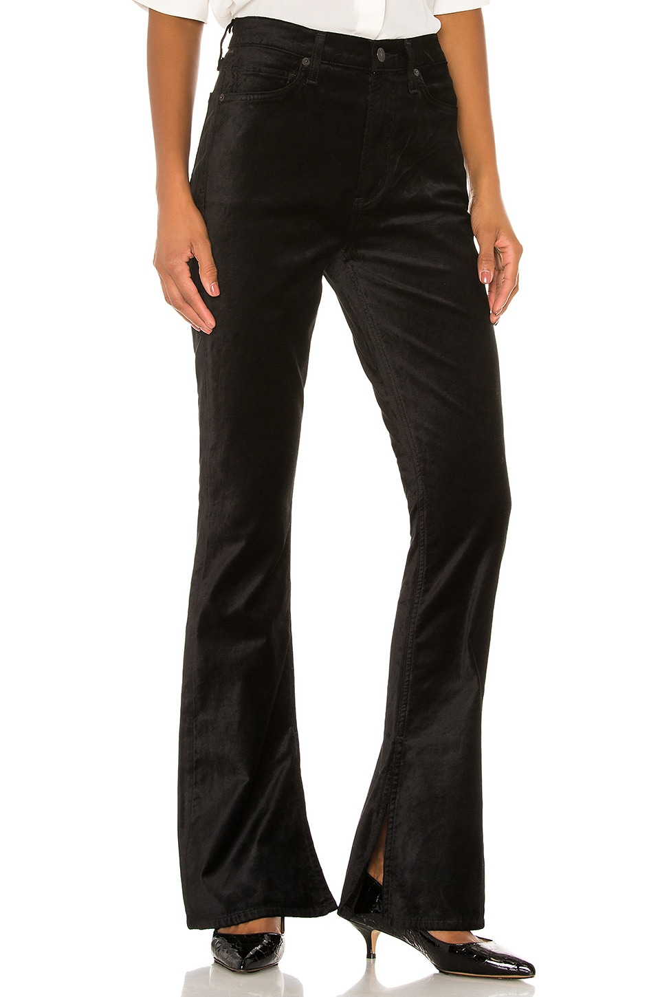 Citizens of Humanity Velvet Georgia High Rise Bootcut in Black