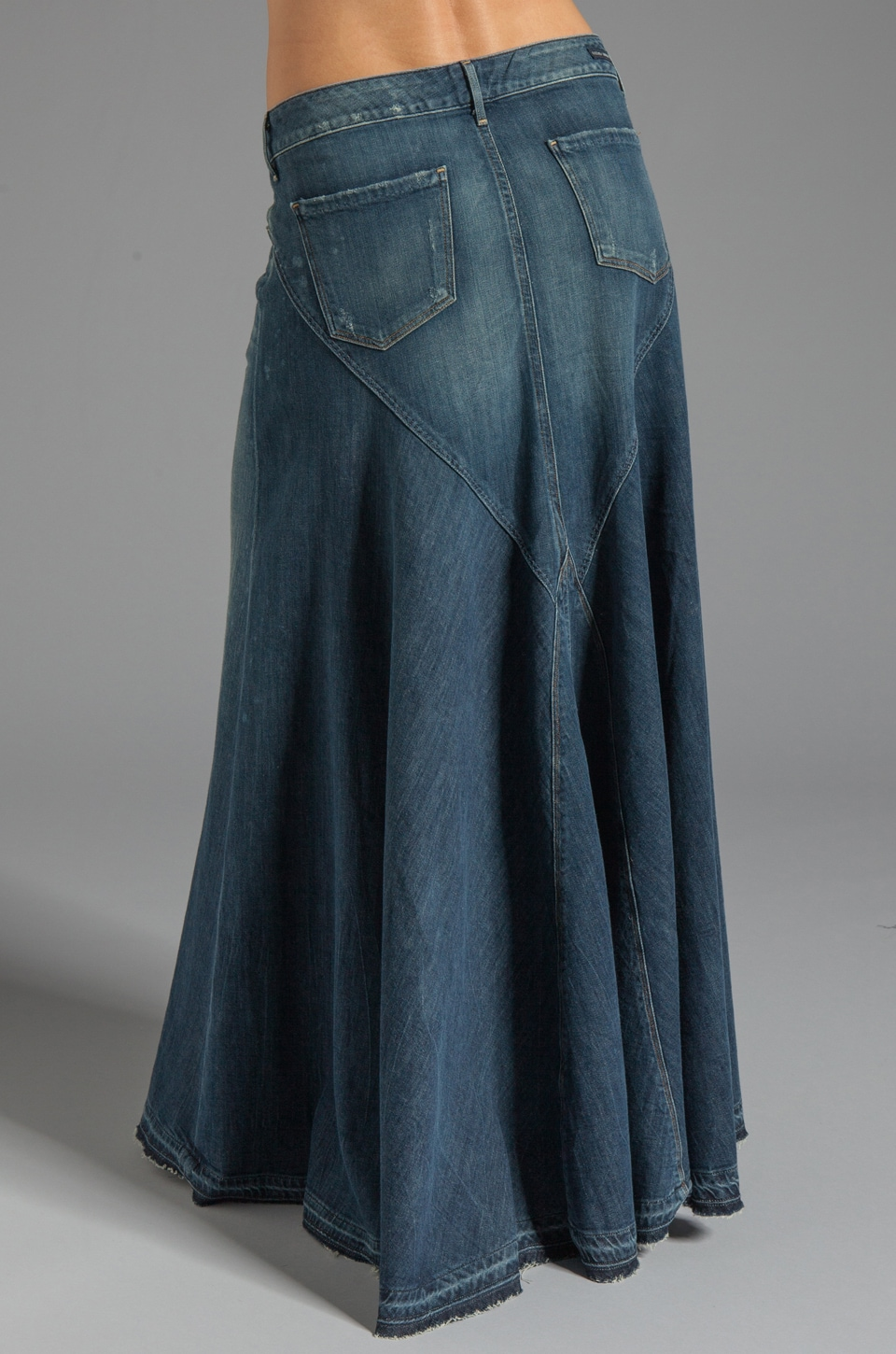 Blue Jean Maxi Skirt - Dress Ala