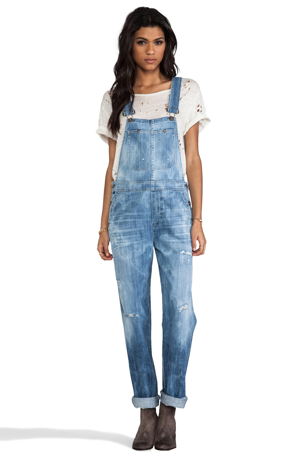 Citizens of Humanity Quincey Overall in Sun Bleach